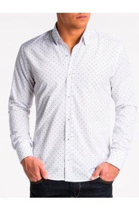 Рубашка мужская R470 - Белый/Синий