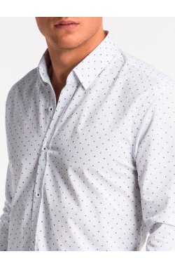 Рубашка мужская K470 - Белый/Синий