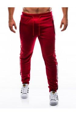 Брюки мужские спортивные трикотажные B803 - красный