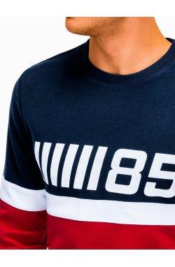 Bluza męska z nadrukiem B934 - Красный