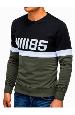 Bluza męska z nadrukiem B934 - oliwkowa