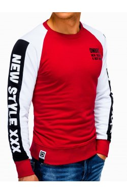 Bluza męska z nadrukiem B935 - Красный