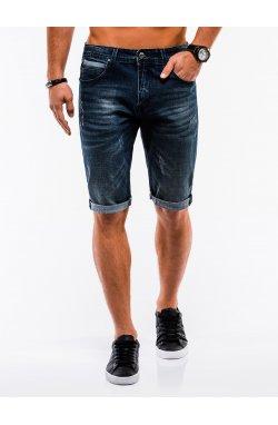 Men's denim shorts W218 - Синий