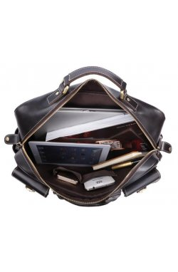 Сумка TIDING BAG 7028A - Натуральная кожа, чёрный