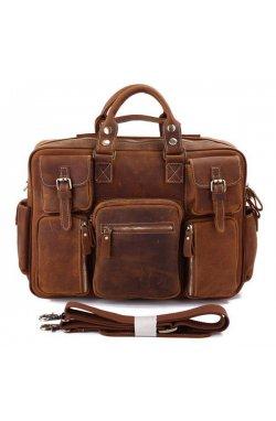 Сумка мужская Vintage 14065 винтажная кожа Коричневая