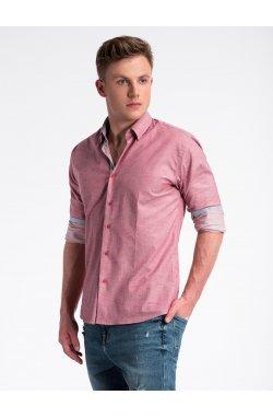 Рубашка мужская R487 - красный