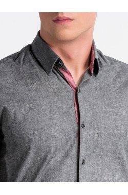 Рубашка мужская R487 - Темно- Серый
