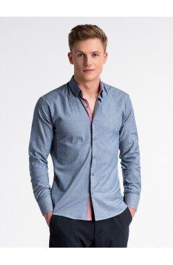 Рубашка мужская R487 - Синий
