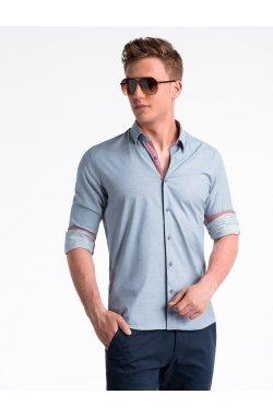 Рубашка мужская R487 - голубой