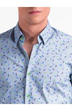 Рубашка мужская R492 - голубой