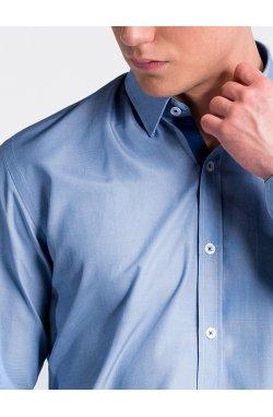Рубашка мужская R472 - светло - Синий