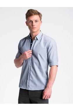 Рубашка мужская R472 - Белый/Синий
