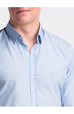 Рубашка мужская R472 - Белый/светло - голубой