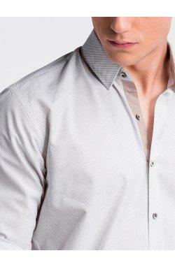 Рубашка мужская R478 - Белый/бежевый