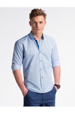 Рубашка мужская R478 - Белый/голубой