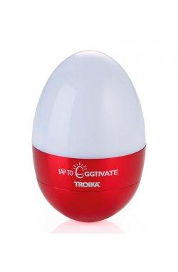 Светильник-ночник Troika Eggtivate, с датчиком вибрации, красный