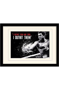 "Постер в раме ""Muhammad Ali (Outwit Outhit)"""