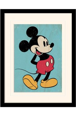 """Постер в раме  """"Mickey Mouse (Retro)"""""""