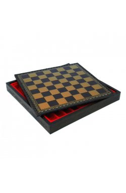 Шахматная доска золотисто-черная