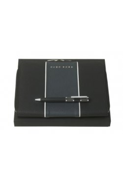 Набор Hugo Boss шариковая ручка Formation и папка для конференций А5 Gear Blue - 6779
