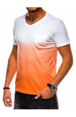 Футболка мужская F1036 - pomarańczowy