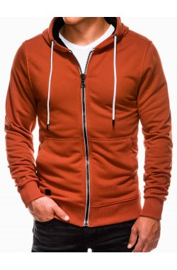 Свитшот мужской на замке S976 - оранжевый