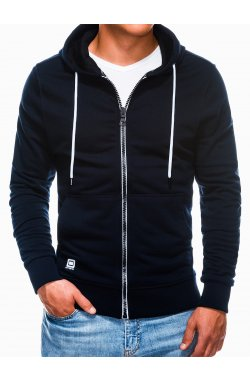 Men's zip-up sweatshirt B976 - Синий