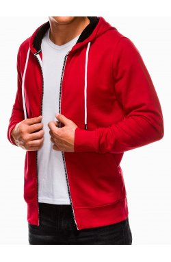 Men's zip-up sweatshirt B976 - красный