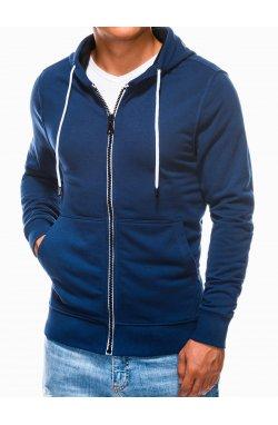 Men's zip-up sweatshirt B976 - светло - Синий