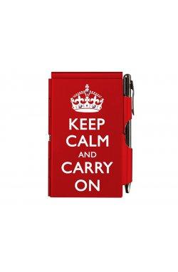 Карманный блокнот с ручкой Keep calm - 1611