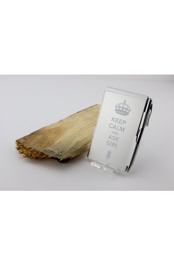Карманный блокнот с ручкой Keep Calm and ask Siri - 4045