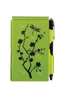 Карманный блокнот с ручкой Lime Blossom - 4094