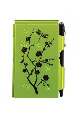 Карманный блокнот с ручкой Lime Blossom - wos4094