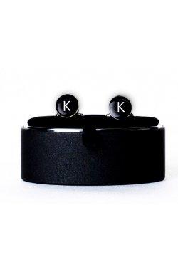 Запонки с буквой K - 6845