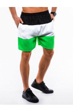 Шорты мужские пляжные W189 - Черный/Зеленый