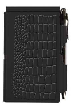 Карманный блокнот с ручкой Black Croc - 4098