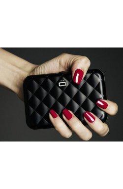 Визитница OGON Quilted Button, черная - 6554