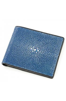 Бумажник STINGRAY LEATHER 18565 из натуральной кожи морского ската Синий, Синий