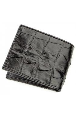 Бумажник мужской CROCODILE LEATHER 18583 из натуральной кожи крокодила Черный, Ч