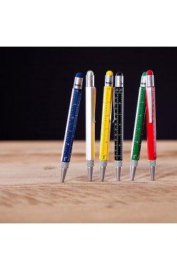 Ручка-стилус Construction mini SL с линейкой серебристая - 3582