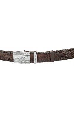 Ремень автоматический CROCODILE LEATHER 18598 из натуральной кожи крокодила Кор