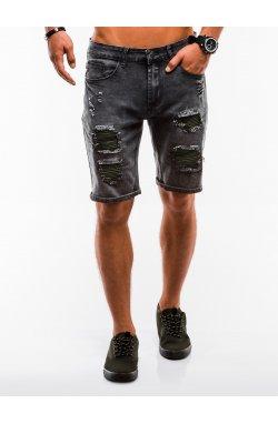 Шорты мужские джинсовые W130 - Черный