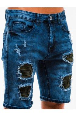 Шорты мужские джинсовые W130 - Синий
