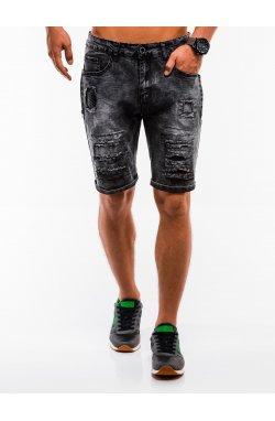 Шорты мужские джинсовые W131 - Черный