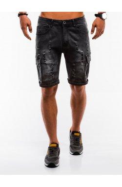 Шорты мужские джинсовые W132 - Черный