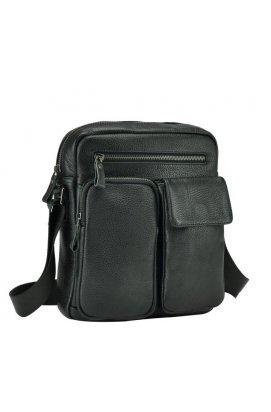 Мессенджер Tiding Bag 9812-1A - Натуральная кожа, черный