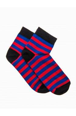 Patterned men's socks U07 - красный/голубой