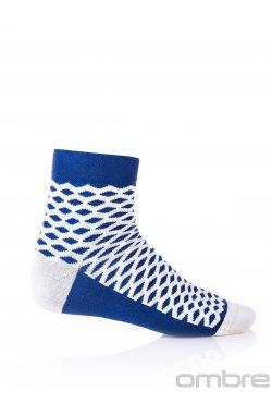 Patterned men's socks U08 - Синий/бежевый
