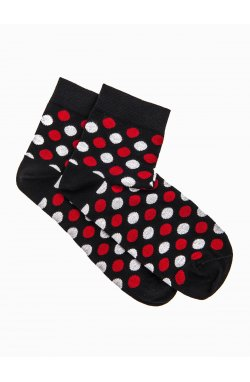 Patterned men's socks U09 - черный