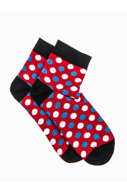 Patterned men's socks U09 - красный